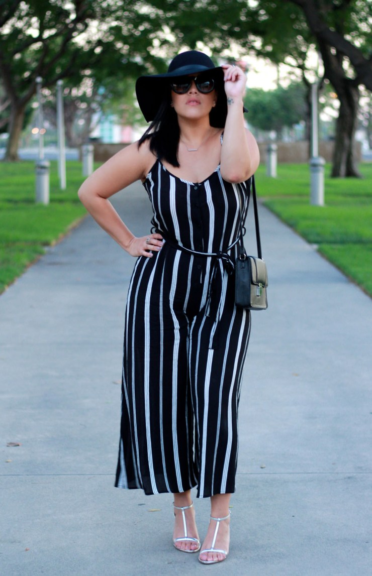 California Outfit of the Day Pinstripes Jumpsuit