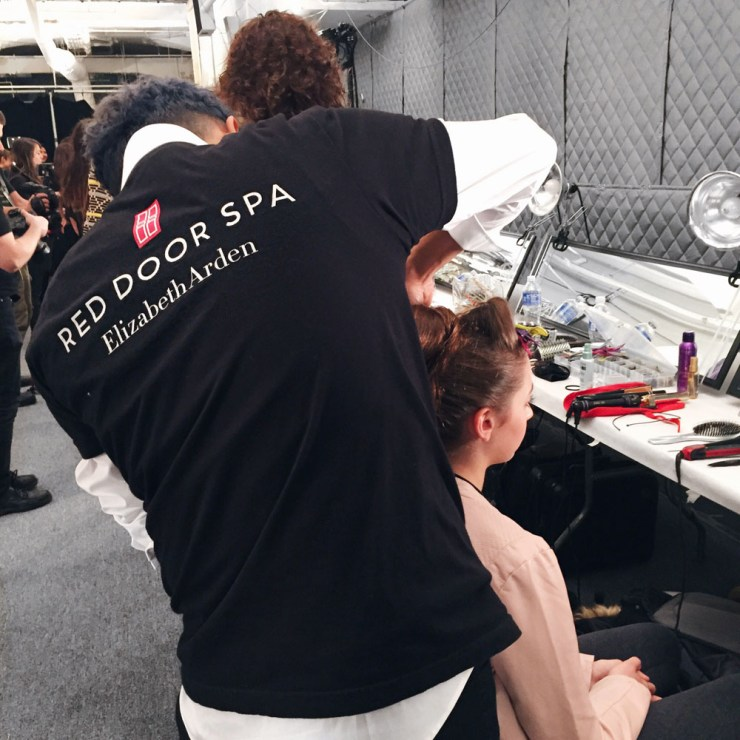 Red Door Spa Hair at Dennis Basso NYFW