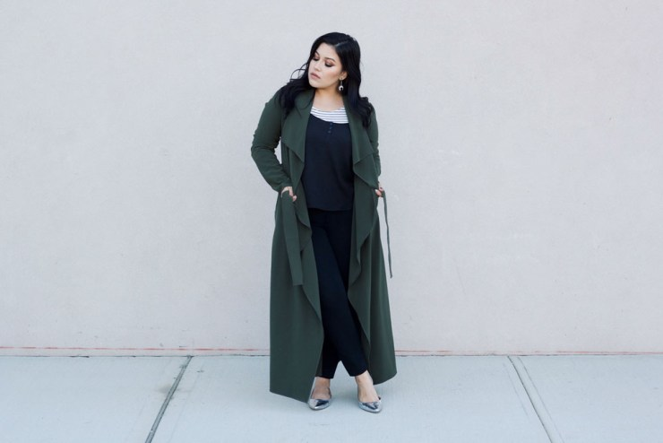 striped-shirt-olive-duster-coat