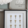 Framed Key Specimen Art Love Grows Wild
