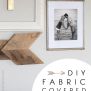 Fabric Covered Frame Mats Love Grows Wild