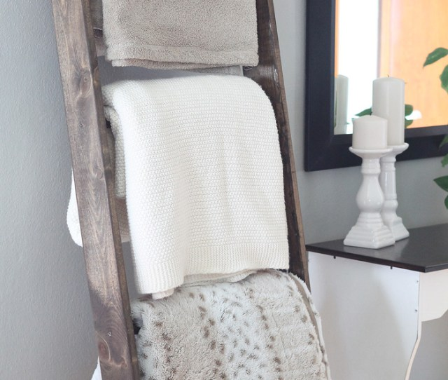Learn How To Make A Diy Blanket Ladder Lovegrowswild Com