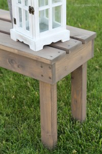 Easy DIY Outdoor Bench - Love Grows Wild