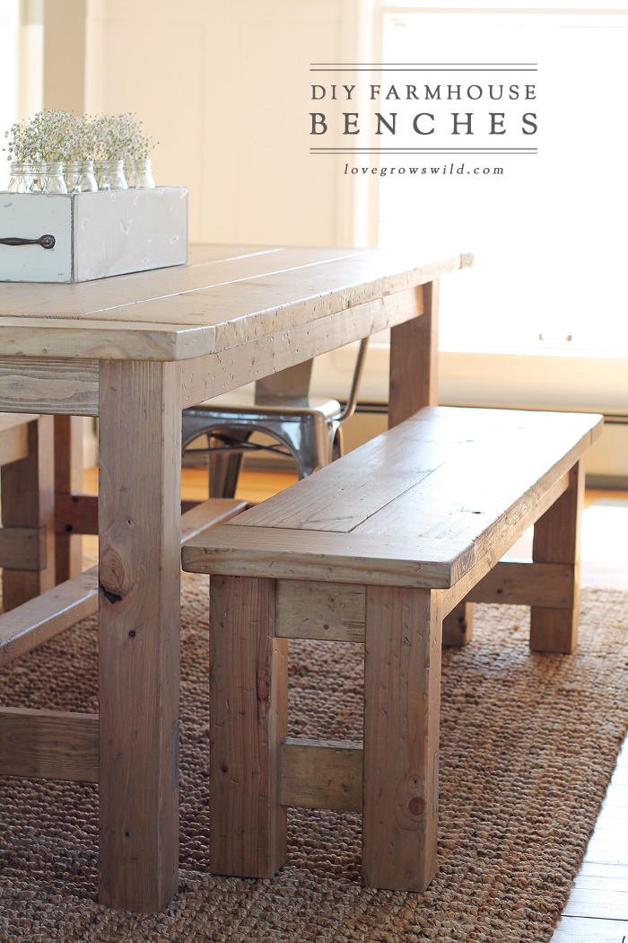 build kitchen table distressed wood diy farmhouse bench love grows wild learn how to an easy perfect for saving space in a