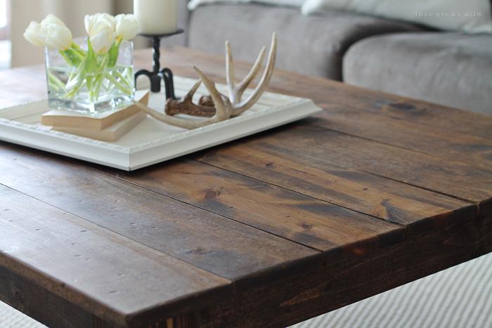 diy farmhouse coffee table love grows