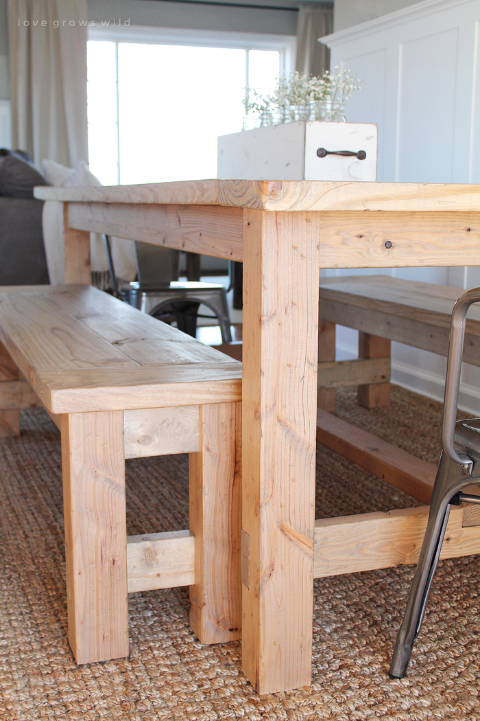 rustic farm table and chairs office nj diy farmhouse love grows wild this large seats 8 adds great charm to your dining room