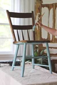 Painted Chair for Outdoors - Love Grows Wild
