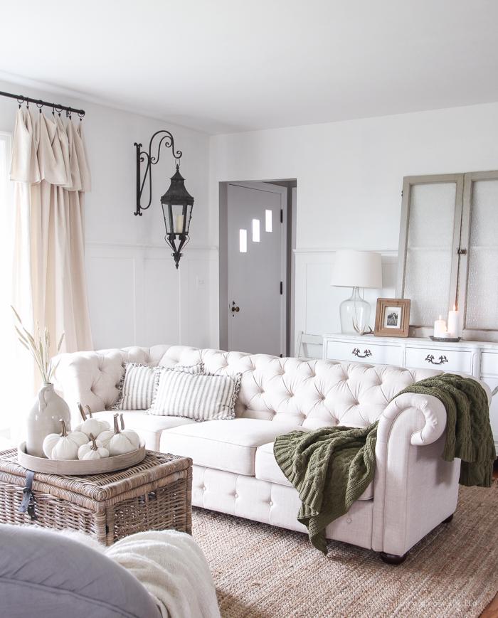 Simple Farmhouse Fall Living Room  Love Grows Wild