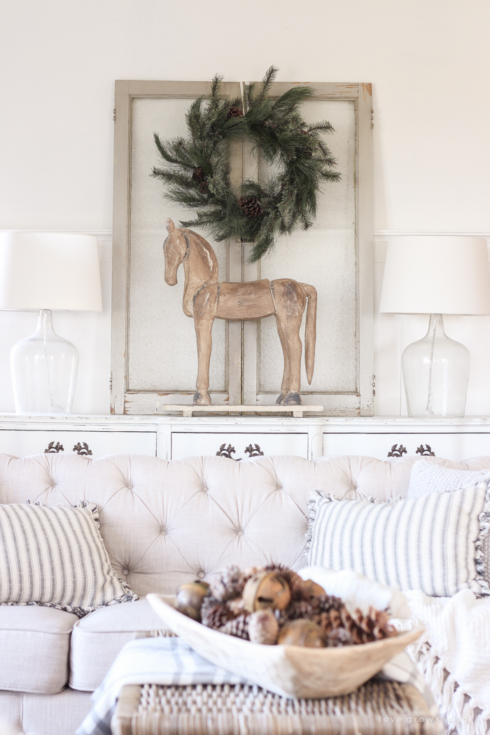 beautiful living rooms at christmas room furniture ikea farmhouse love grows wild a decorated for the holidays