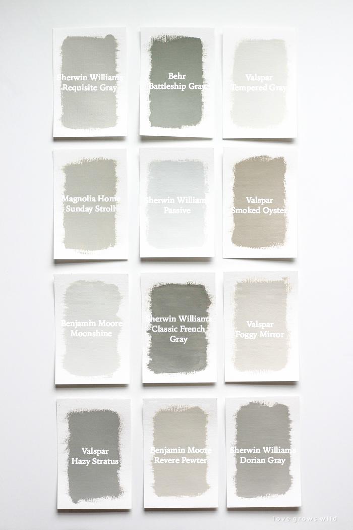 Favorite Gray Paint Colors  Love Grows Wild