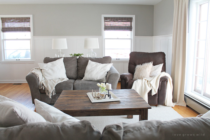 modern farmhouse living room curtains swivel glider chairs our over the years love grows wild see how this small transformed and evolved from dark
