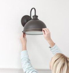 home and lifestyle blogger liz fourez shares an easy trick to install light fixtures anywhere in [ 820 x 1230 Pixel ]