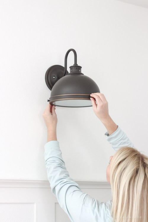 small resolution of home and lifestyle blogger liz fourez shares an easy trick to install light fixtures anywhere in