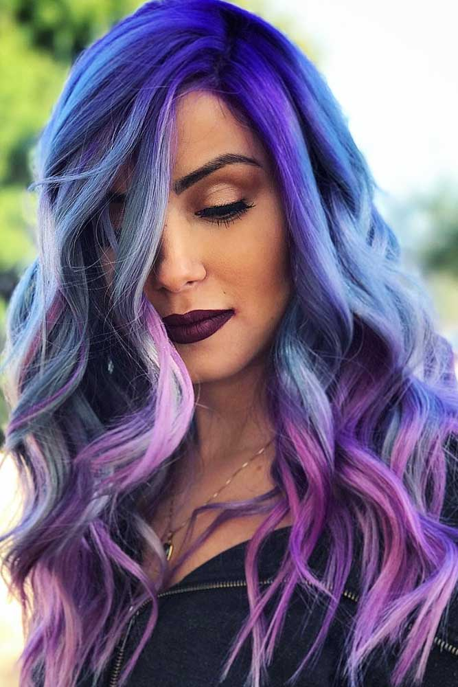 Cute Girl With Purple Hair : purple, Tempting, Attractive, Purple, Looks, LoveHairStyles.com