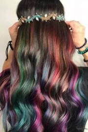 rainbow hair ideas brunette