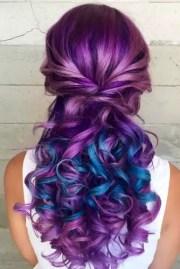 fabulous purple and blue hair