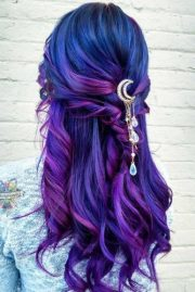 fabulous purple and blue hair