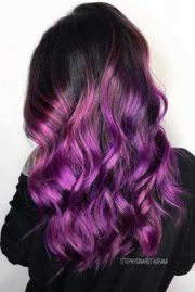 unique purple and black hair