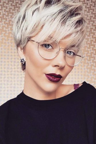 Short Hair With Bangs #shorthaircuts #shorthairstyles #shorthair #pixiehaircuts #blondehair
