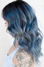 tasteful blue black hair color