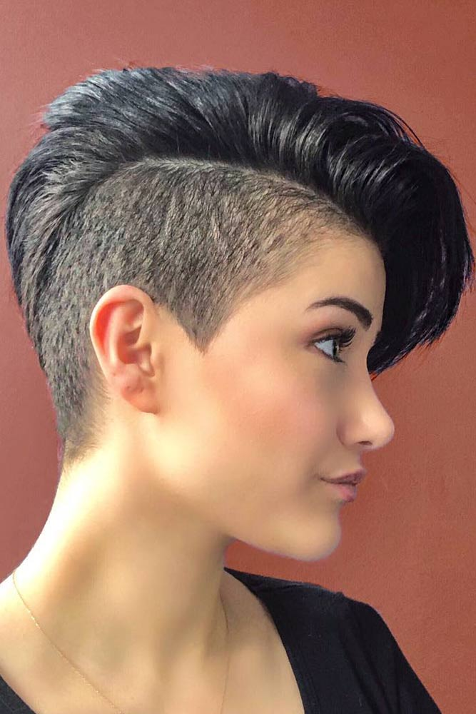 Shaved Sides Pixie : shaved, sides, pixie, Classy, Undercut, Pixie, Ideas, Heads