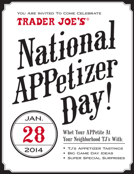 Love Happy Hour: National Appetizer Day at Trader Joe's