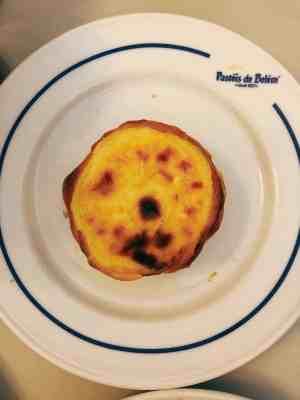 Golden Pastel de Nata pastry, the specialty of Pasteis de Belem
