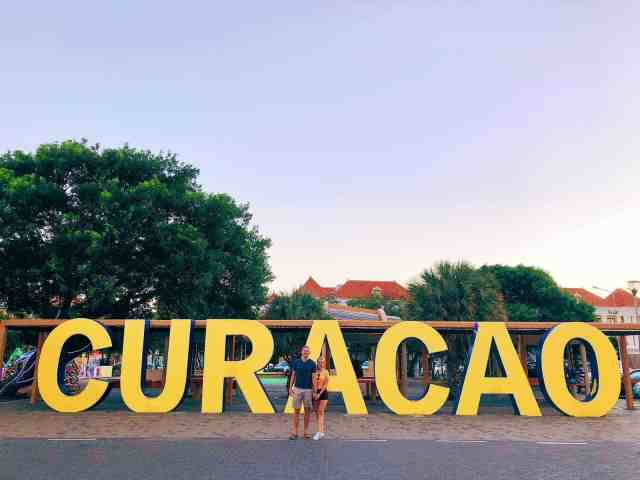 Curacao sign in Punda Willemstad, one of the top things to do in Curacao