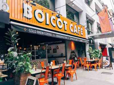 The front of the trendy Boicot cafe in Condesa
