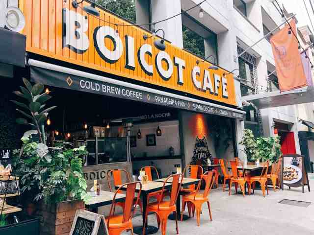 Trendy Boicot cafe in Condesa, one of the top things to do in Mexico City
