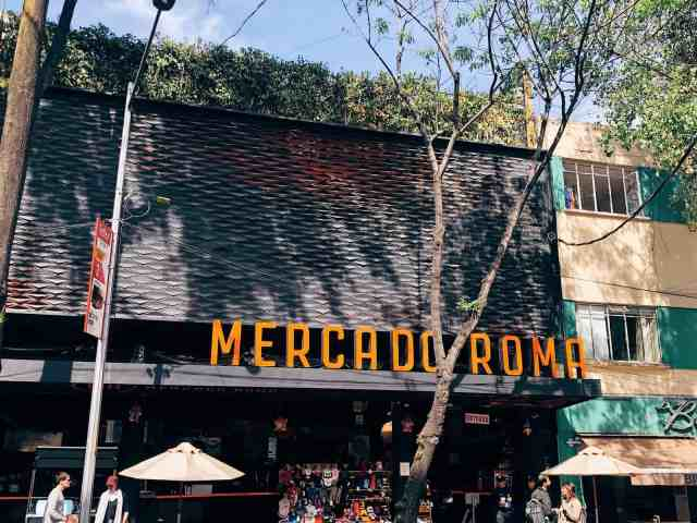 Mercado Roma food court, one of the top things to do in Mexico City