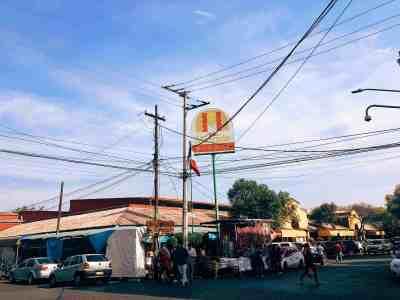Mercado de Coyocan food market sign