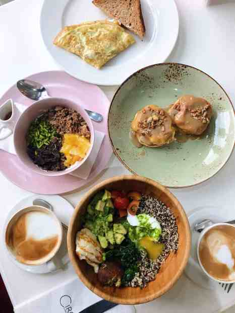 Brunch at Circle Cafe, one of the best restaurants in Dubai