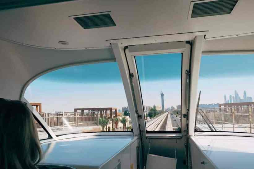 Monorail to the Palm Islands, one of the top things to do in Dubai.