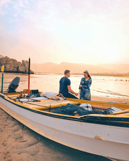 Yiti Beach, one of the top things to do in Oman.