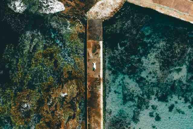Aerial view of Camps Bay Tidal Pool