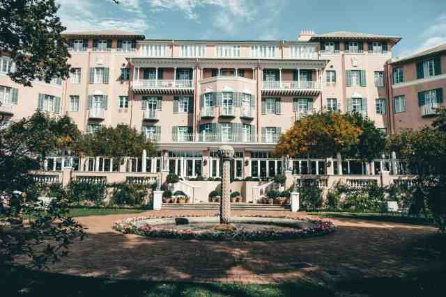 High Tea at the pink Mount Nelson hotel, one of the top things to do in Cape Town