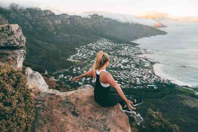View of the 12 Apostles from Lions Head Hike, one of the top things to do in Cape Town