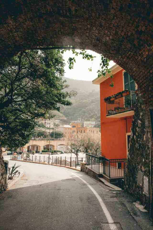 Archway leading into Monterosso