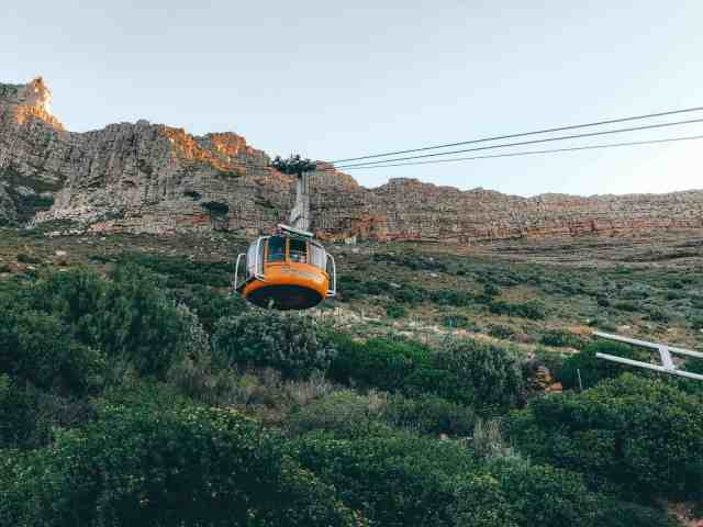 Table Mountain cable car, one of the top things to do in Cape Town