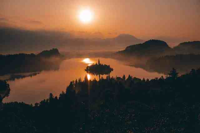 Sunrise at Ojstrica overlooking Lake Bled