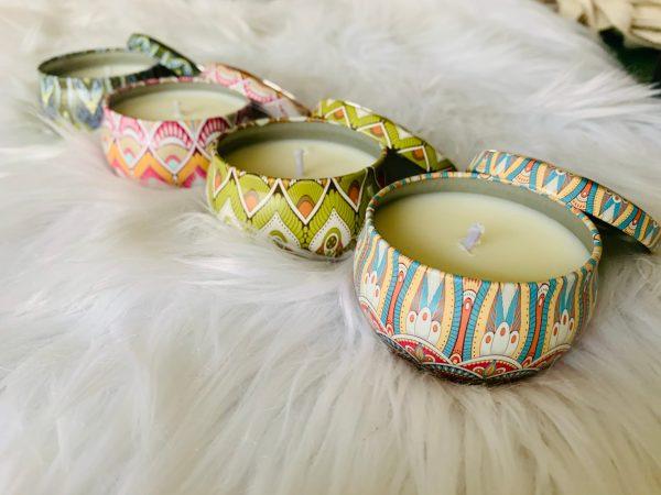 decorative candle tin