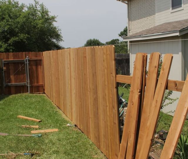A Very Common Example Using Standard Cedar Fence Boards By Using These Boards Fence