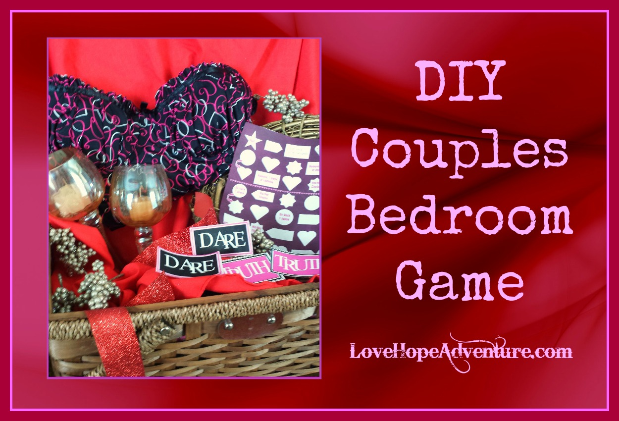 DIY Couples Bedroom Game With Printables  Love Hope