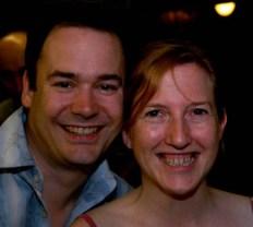 Toni and writer, Alex Wakeford