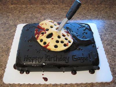 Jason 13th cake