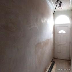 Hallway replastered