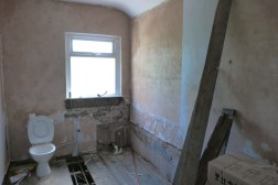 The former bathroom. Now to become a bedroom