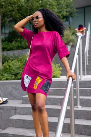 A Linen Shift Dress For Summer: Pretty in Pink