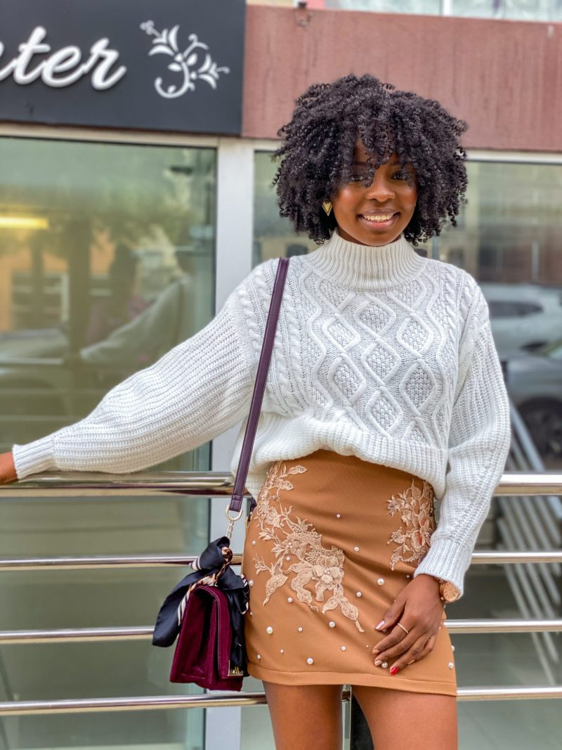 DIY Embroidered Skirt (with Appliqué and Pearls)